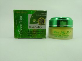 Huashuzi Green tea whitening freckles removing cream in 7 day