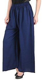 Amasree Navy blue  Plain Casual Wear Palazzo Pant For Women  girls - Free Size