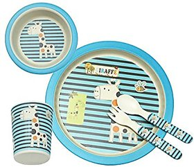 Yookidoo kids tableware set of 5 pcs, Giraffe theme