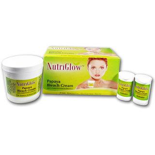 NutriGlow Papaya Bleach Cream For Smooth  Glowing Skin 300g