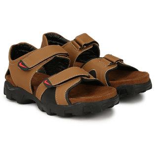 Lee Peeter Men's Brown Outdoor Heavy Valcro Sandals