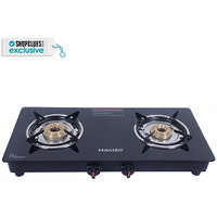 Macizo 2 Burner Glass Stainless Steel Cooktop Black