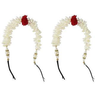 Hair Gajra / Hair Veni Flowers / Hair Accessories ( Set Of 2 )