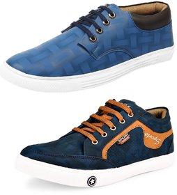Shoe Daisy Men's Pack Of 2 Blue Lace-Up Sneaker