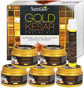 Nutriglow Gold Keshar Facial Kit Instant Radiant Shine  Youthful Glow Facial Kit 250gm