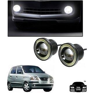 Trigcars Hyundai Santro Xing GL Car High Power Fog Light With Angel Eye
