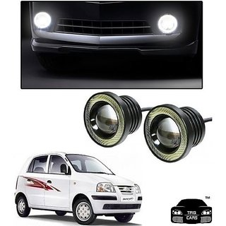 Trigcars Hyundai Santro Xing GLS Car High Power Fog Light With Angel Eye
