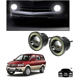 Trigcars Chevrolet Tavera Car High Power Fog Light With Angel Eye