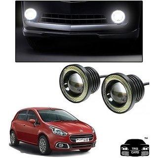 Trigcars Fiat Punto Car High Power Fog Light With Angel Eye