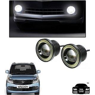 Trigcars Maruti Suzuki Wagon R 2012 Car High Power Fog Light With Angel Eye
