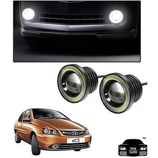 Trigcars Tata Indigo eCS Car High Power Fog Light With Angel Eye