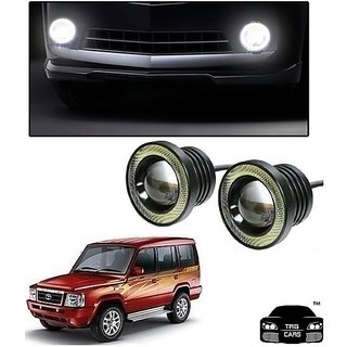 Trigcars Tata Sumo Gold Car High Power Fog Light With Angel Eye