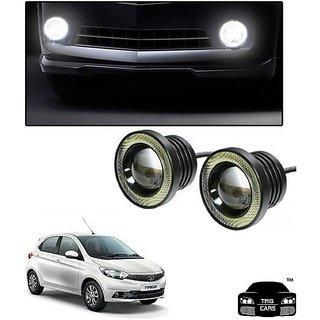 Trigcars Tata Tiago Car High Power Fog Light With Angel Eye