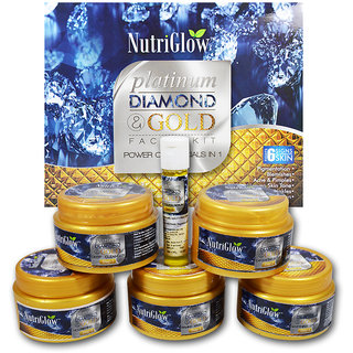 Nutriglow Platinum, Diamond  Gold Facial Kit Power of 3 In 1