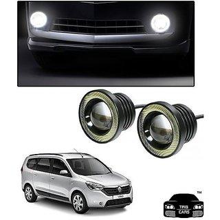 Trigcars Renault Lodgy Car High Power Fog Light With Angel Eye