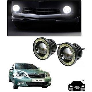Trigcars Skoda Laura Car High Power Fog Light With Angel Eye
