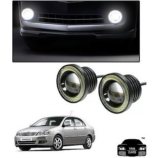 Trigcars Toyota Corolla Car High Power Fog Light With Angel Eye