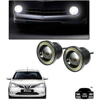 Trigcars Toyota Etios New Car High Power Fog Light With Angel Eye