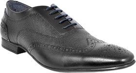 Allen Cooper Men Black Brogues Leather Formal Shoes