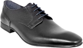 Allen Cooper Men Black Derby Leather Formal Shoes