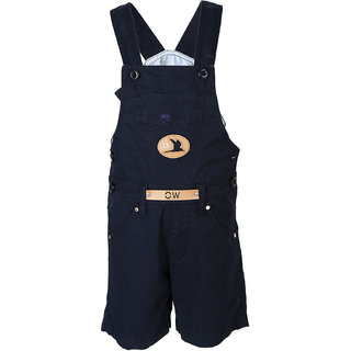 FirstClap Cotton Navyblue Short Dungaree for Kids