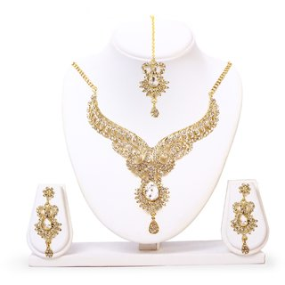HANNAH Alloy Gold necklace set