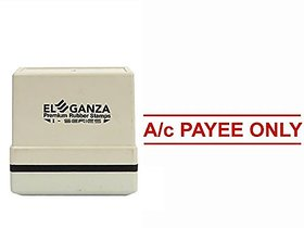 Self Ink Ac PAYEE ONLY Rubber Stamp Size 45x12 mm by ELEGANZA