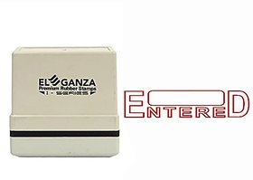 Self Ink ENTERED Rubber Stamp Size 45x12 mm by ELEGANZA