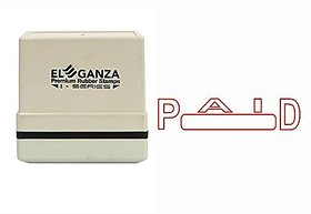 Self Ink PAID Rubber Stamp  Size  45x12 mm by ELEGANZA