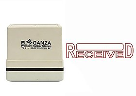 Self Ink RECEIVED Rubber Stamp  Size  45x12 mm by ELEGANZA