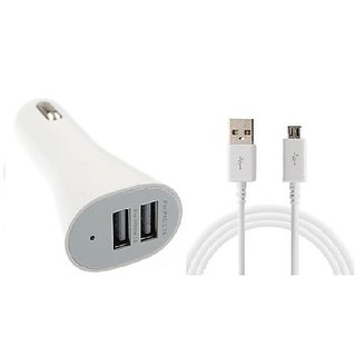 Dual USB Car Charger Free Micro USB Charging Cable CODEeD-1740
