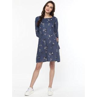 8fdedf9cd44c5f Buy Zima Leto Women s Bird Print Floral Dress Online   ₹799 from ...