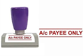 Self Ink Ac PAYEE ONLY Rubber Stamp Size 50x12 mm by ELEGANZA