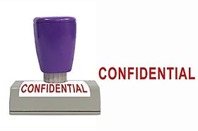 Self Ink CONFIDENTIAL Rubber Stamp Size 50x12 mm by ELEGANZA