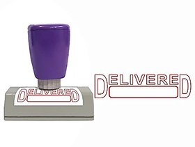 Self Ink DELIVERD Rubber Stamp Size 50x12 mm by ELEGANZA