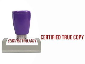 Self Ink CERTIFIED TRUE COPY Rubber Stamp Size 50x12 mm by ELEGANZA