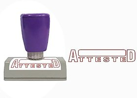 Self Ink ATTESTED Rubber Stamp Size 50x12 mm by ELEGANZA