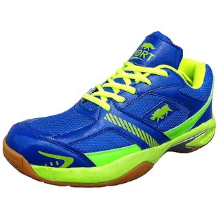 Port Mens Blue Spencer Lightweight Pu Badminton Shoes