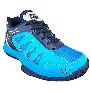 Port Mens Blue Deakon Lightweight Pu Badminton Shoes