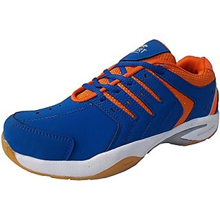 Port Mens Blue James Pu Badminton Shoes
