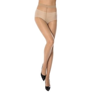 Neska Moda Women Skin Beige Panty Hose Long Comfort Stockings STK4