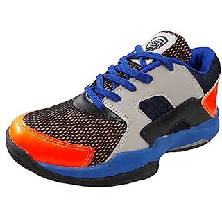 Port Mens Blue Douglos Pu Badminton Shoes