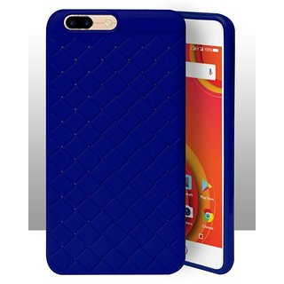ECellStreet Texture Leather Pattern Soft Cusion Padding Case Back Cover For Comio S1 - Navy Blue