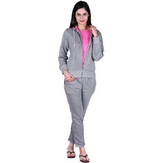 Buy Vivid Bharti Women Pink Bone gray Hooded 3 PCS Track Suit Online - Get  45% Off ae7b1ea88
