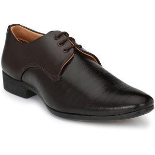 YAXRO Men's Leather look Comfortable Derby Formal Shoe