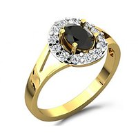 Sparkles 0.29ct Diamond Ring In 18 Kt Gold & Real Diamonds