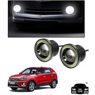 Trigcars Hyundai Creta Car High Power Fog Light With Angel Eye