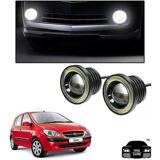 Trigcars Hyundai Getz Car High Power Fog Light With Angel Eye