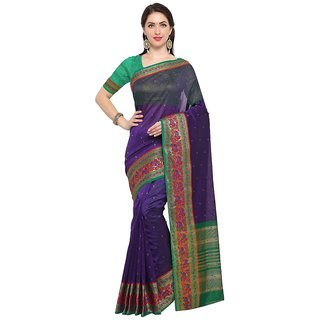 TexStile sarees womens Party wear Designer Sarees with Blouse Pieces(Dark Blue Elephant Sari )