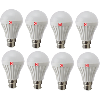 Alpha 7 Watt Bulb Pack of 8 With One Year Replacement Warranty